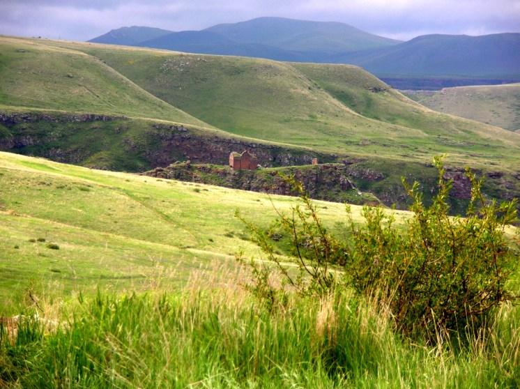 Ani ruins - view toward Armenia