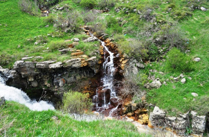 Armanis chrchran waterfall, Stepanavan, Armenia
