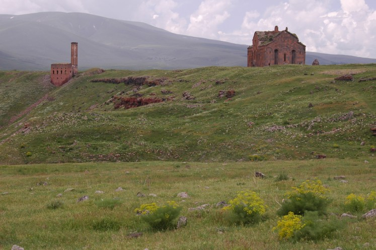 Armenian city Ani cathedral
