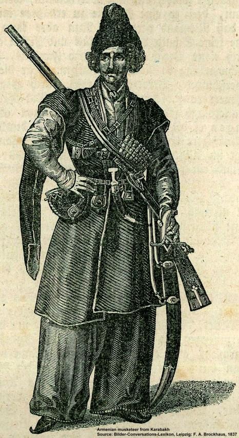 Armenian warrior from F.Brockhaus Bilder Conversations Lexikon, Leipzig 1837