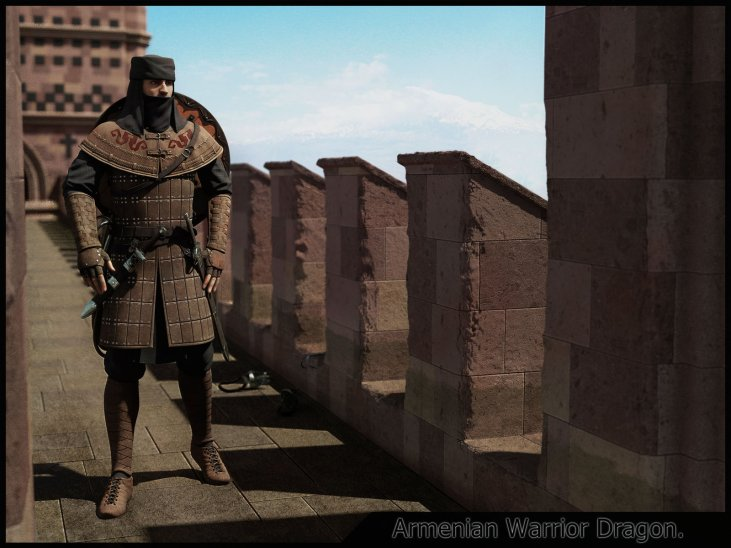 Armenian warrior Wishapner 800-1300 AD.