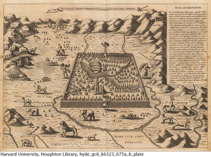 Athanasius Kircher, 1675 Topographia Paradisi terrestris juxta mentem et conjecturas