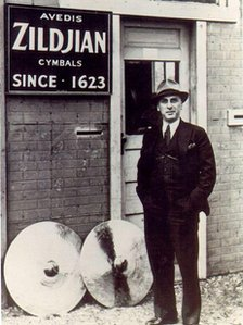 Avedis Zildjian, who emigrated from Turkey to the US