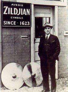 Avedis Zildjian, who emigrated from Turkey to the US