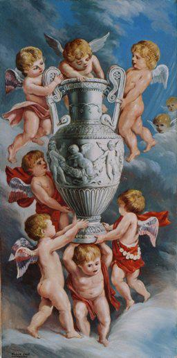 Cherubs with the Vase 2006 by Rubik Kocharian