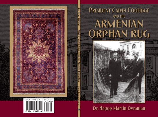 """Cover art for """"President Calvin Coolidge and the Armenian Orphan Rug"""" by Hagop Martin Deranian."""