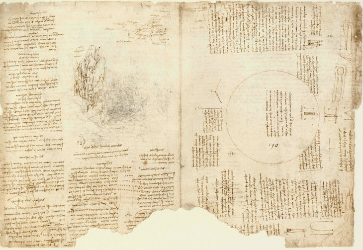 Da Vinci describing Armenia in his work Codex Atlanticus.