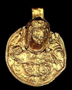 Gold medallion found at Armavir 2nd to 1st c bc.