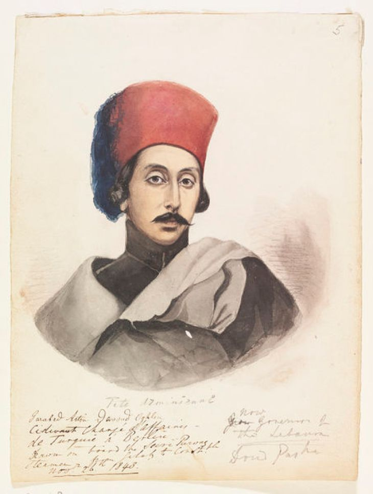 Governor of the Lebanon-Garabed Artin Davoud Oghlou 1843 by Vigne, Godfrey Thomas