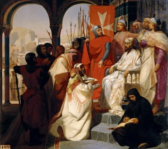 Knights of the Order of St. John of Jerusalem Restoring Religion in Armenia in 1347, 1844  by Henri Delaborde