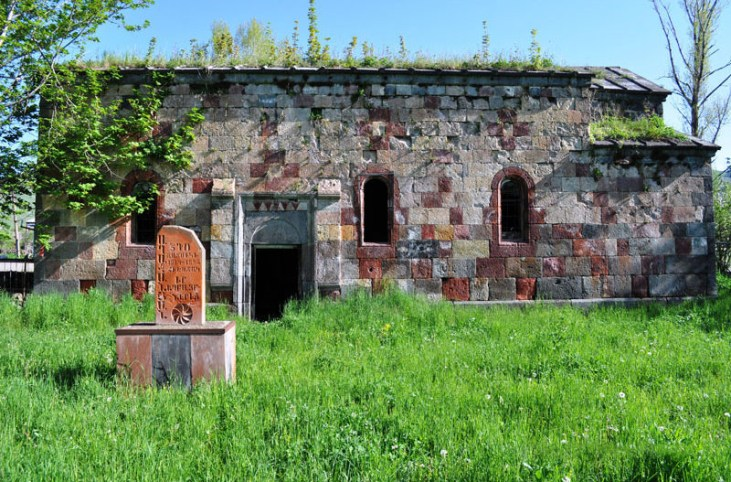 Lejan's red church (19th c.), Stepanavan Armenia