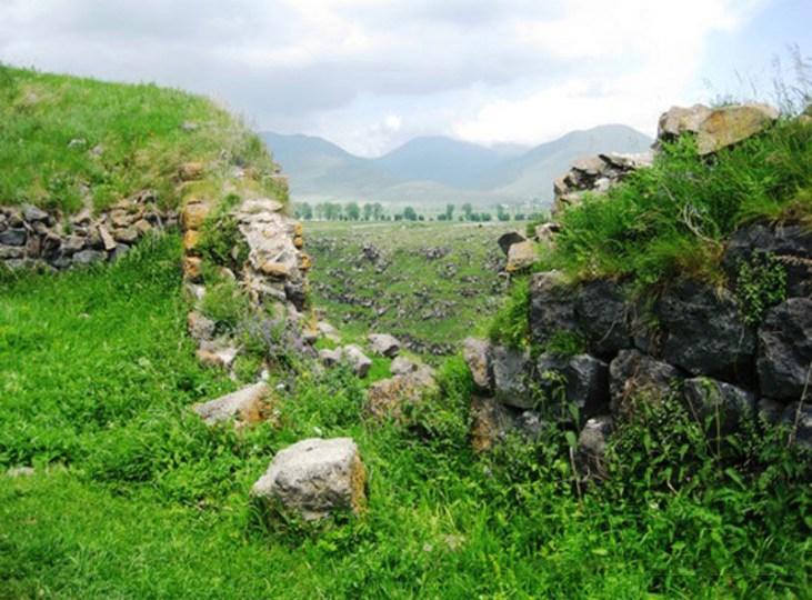 Lori Berd Fortress wall, Stepanavan Armenia