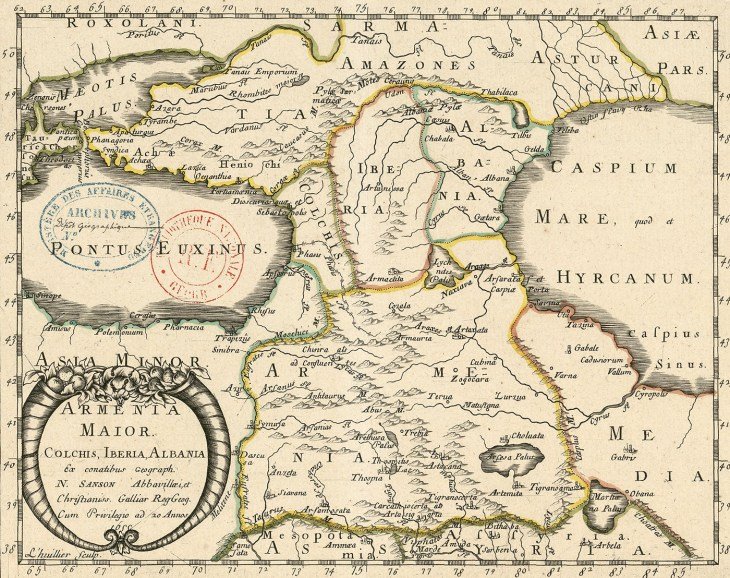 Map of Caucasus 1655
