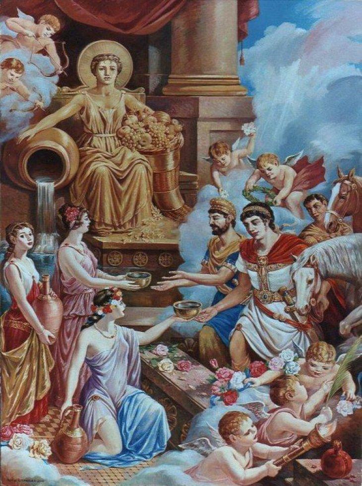 Mithradates VI Greeted at the Shrine of Goddess Anahit 2010 by Rubik Kocharian
