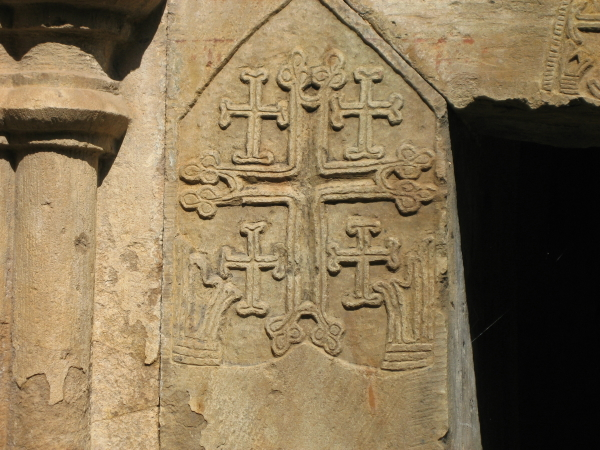 Nor Varagavank monastery (12th century), with Jerusalem cross carved on the walls.