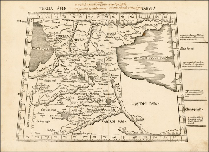 Old map of Armenian major