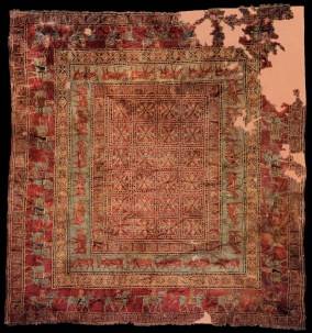 Armenian Carpet found in Pazyryk burial, 400 BC.