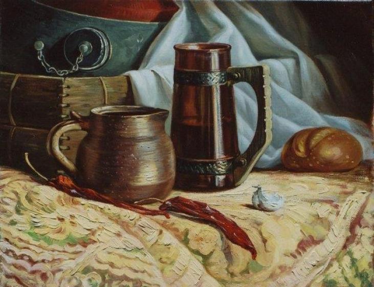 Peppers and Mugs 2006 by Rubik Kocharian