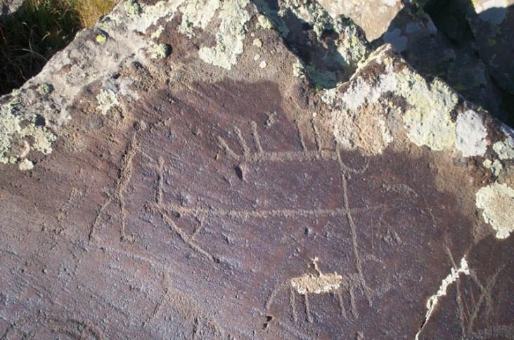 Petroglyphs of Ukhtasar mountains in Armenia