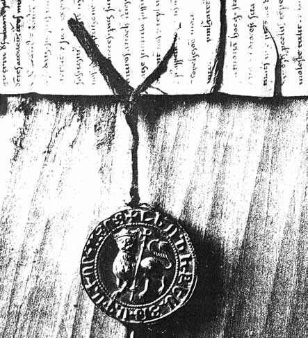 Seal of Levon II King of Cilician Armenian, Rubenid dynsaty