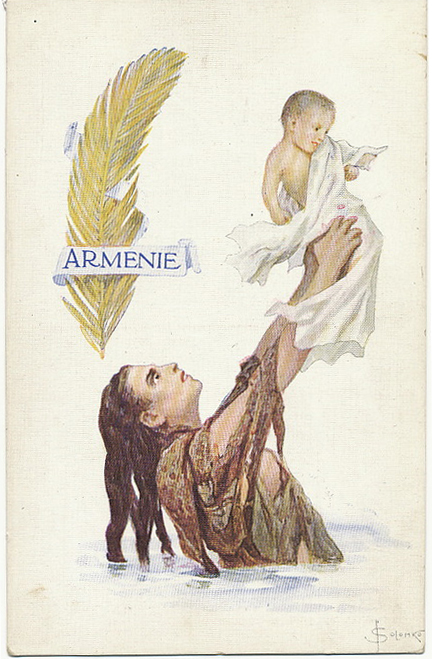 The Martyred nation Armenia - postcard from 1914
