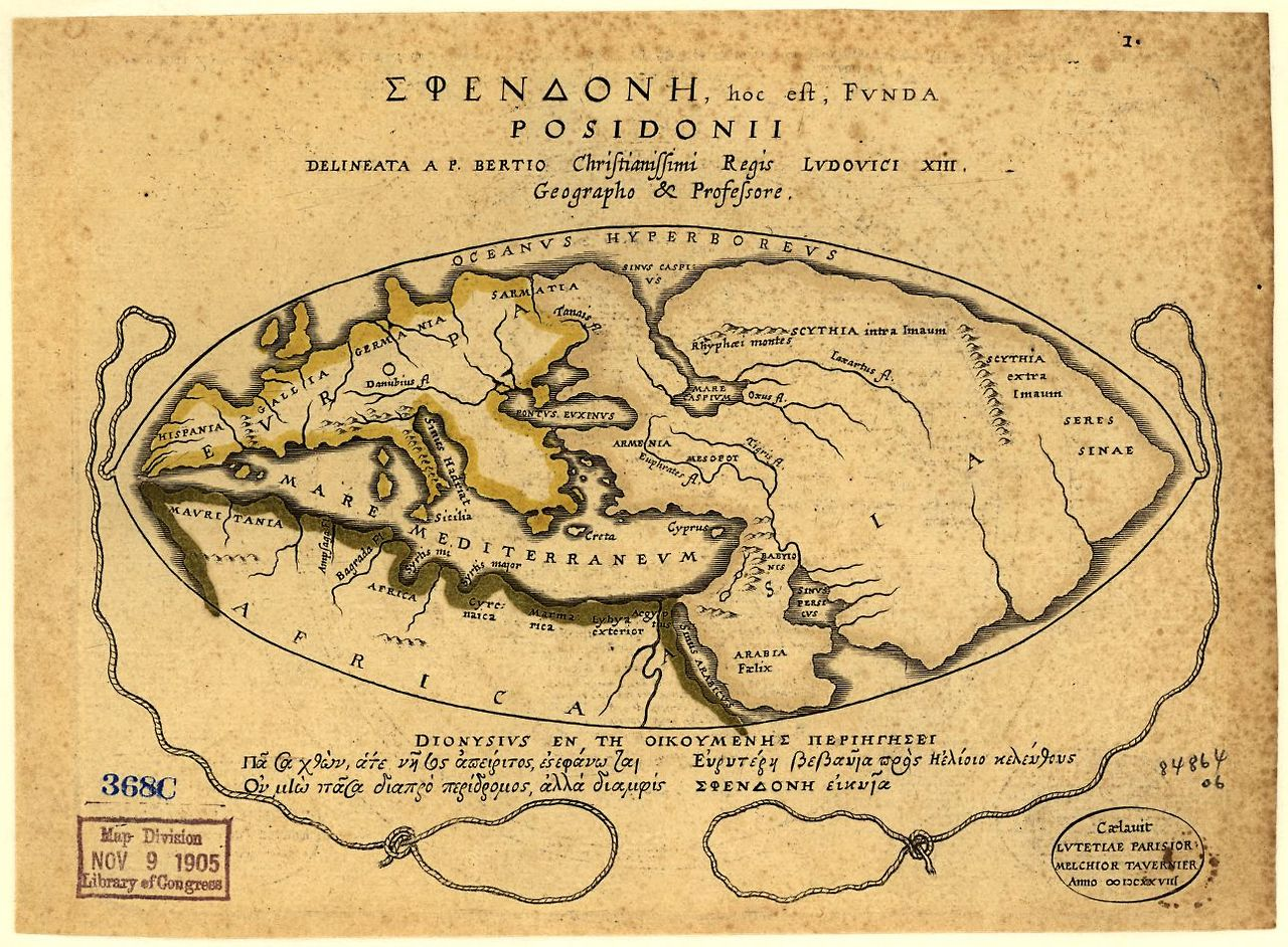 Armenia was the center of the world according to ancient greeks this map of the world according to posidonius 1st c bce gumiabroncs Images