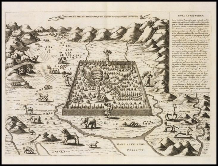 Topographia Paradisi terrestris juxta mentem et conjecturas authoris, Kircher, Athanasius 1675