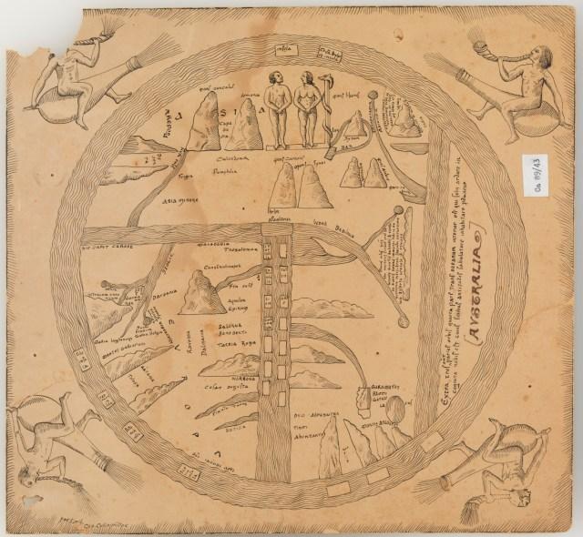 Turin mappamundi, 8th century