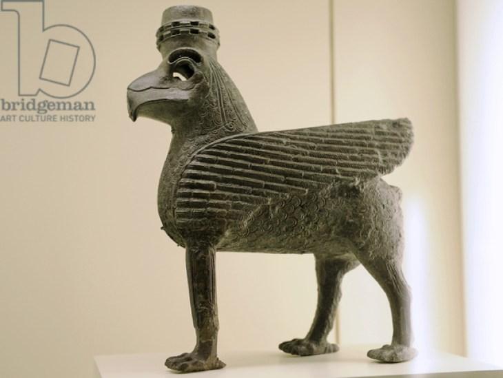 Urartu civilization. Bronze Sphinx. From Tushpa or Toprakkale. 7th century B.C. Turkey. Pergamon Museum. Berlin. Germany.