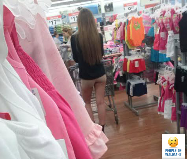 naked at the walmart