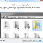 Dropbox Tutorial Screen 1