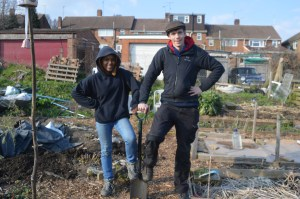 Community Food Growers Network visit Strood's youngest farmer and give support