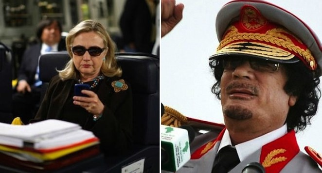 Image result for hillary clinton and gaddafi