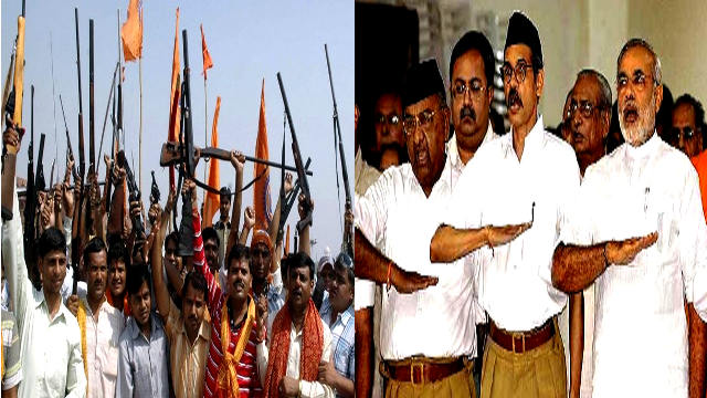 RSS Armed Rally VHP and Bajrang Dal Terrorists