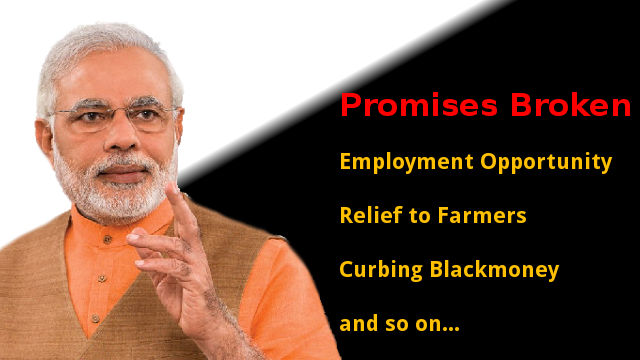 Narendra Modi lies again, says he never broke promises
