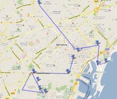 Itinerario 2 Barcellona