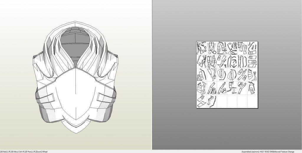 Pepakura Helmet X Files Wing