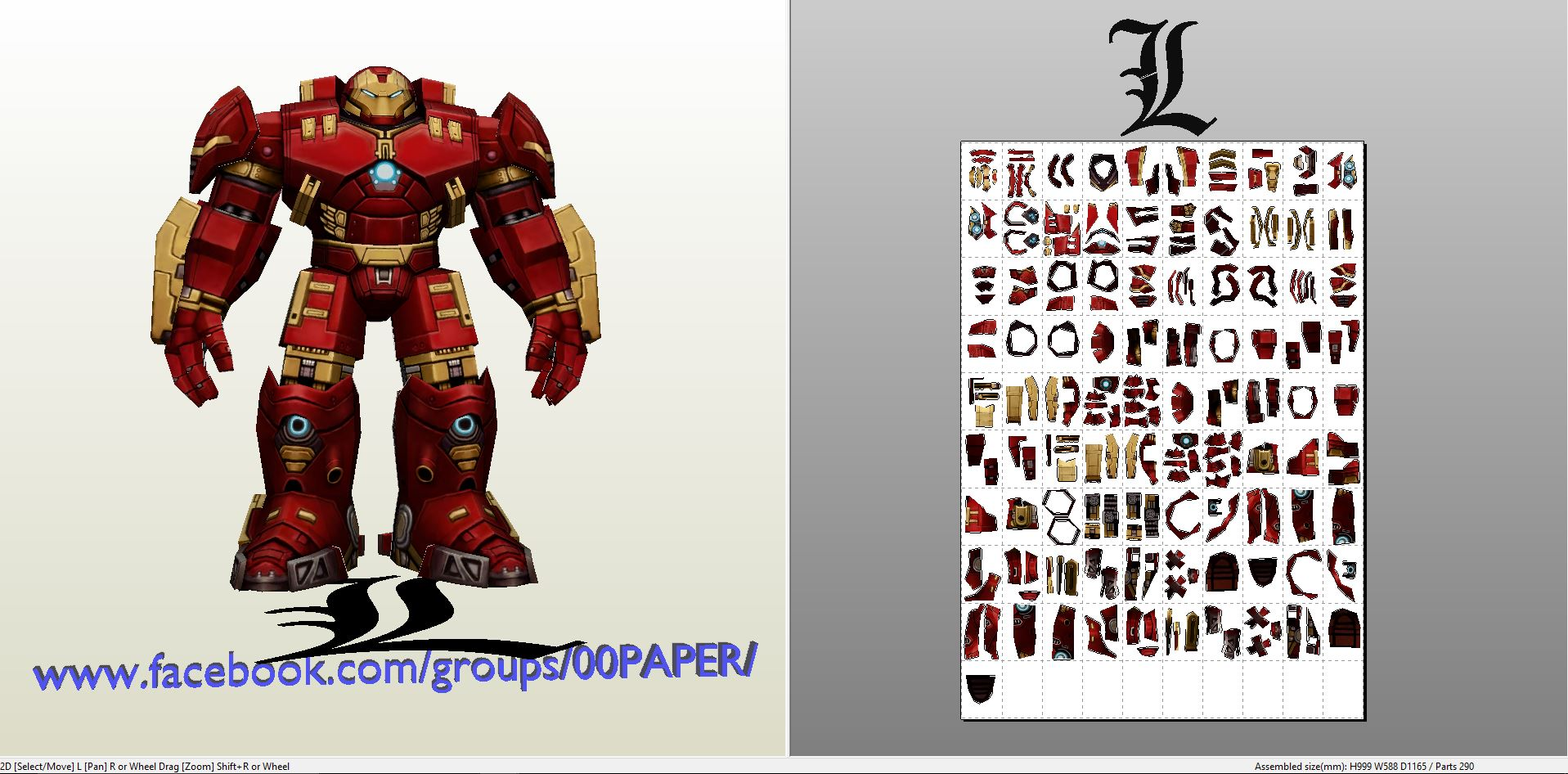 Iron man mk 42 suit papercraft template for Iron man suit template