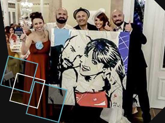 pittura su tele per gli sposi