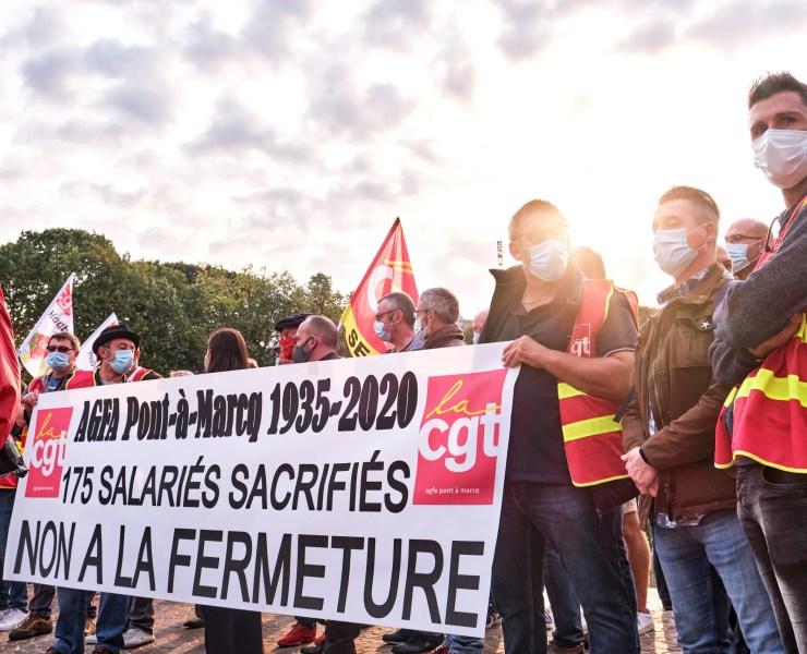 syndicats usine Agfa nord préfet fermeture