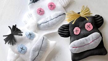Sock Monkey Pet Toys