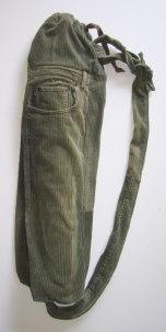 Olive Corduroy UPcycled Yoga Mat Tote Bag | © Pepe & Sherina Designs™