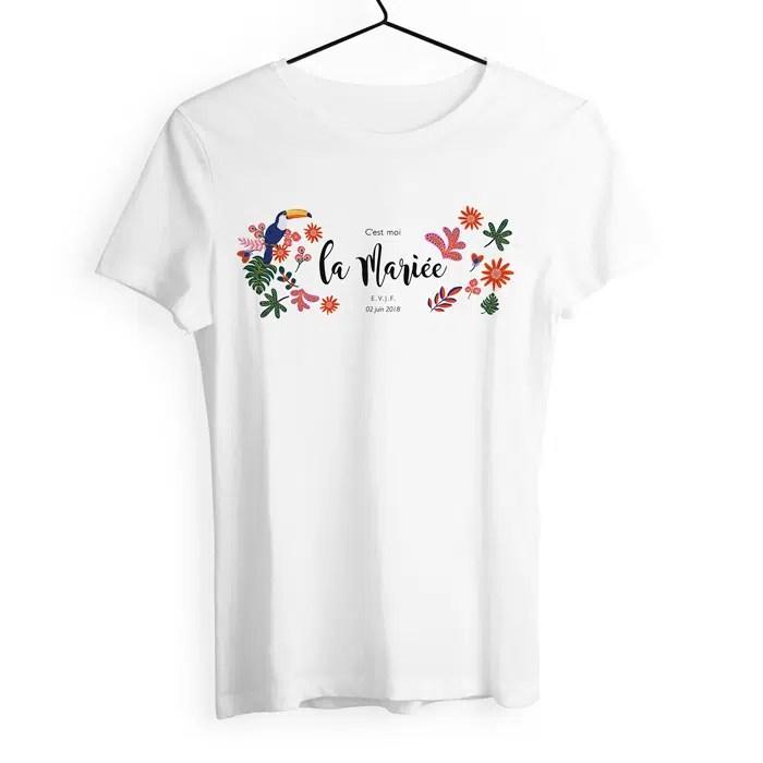 Tshirt Evjf Personnalisé Modèle Exotique Chic Toucan