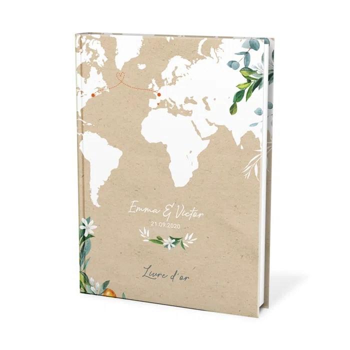 voyage international livre d or mariage