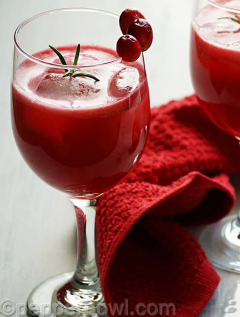 Fresh Homemade Cranberry Juice Recipe
