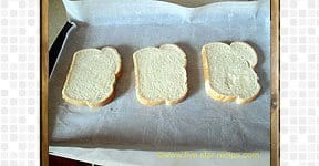 Baked Egg Bread Slices steps and procedures