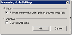 Veeam back-up wizard advanced settings