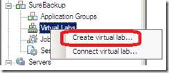 Veeam SureBackup create virtual lab