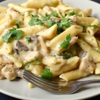 Chicken Pasta with White Sauce