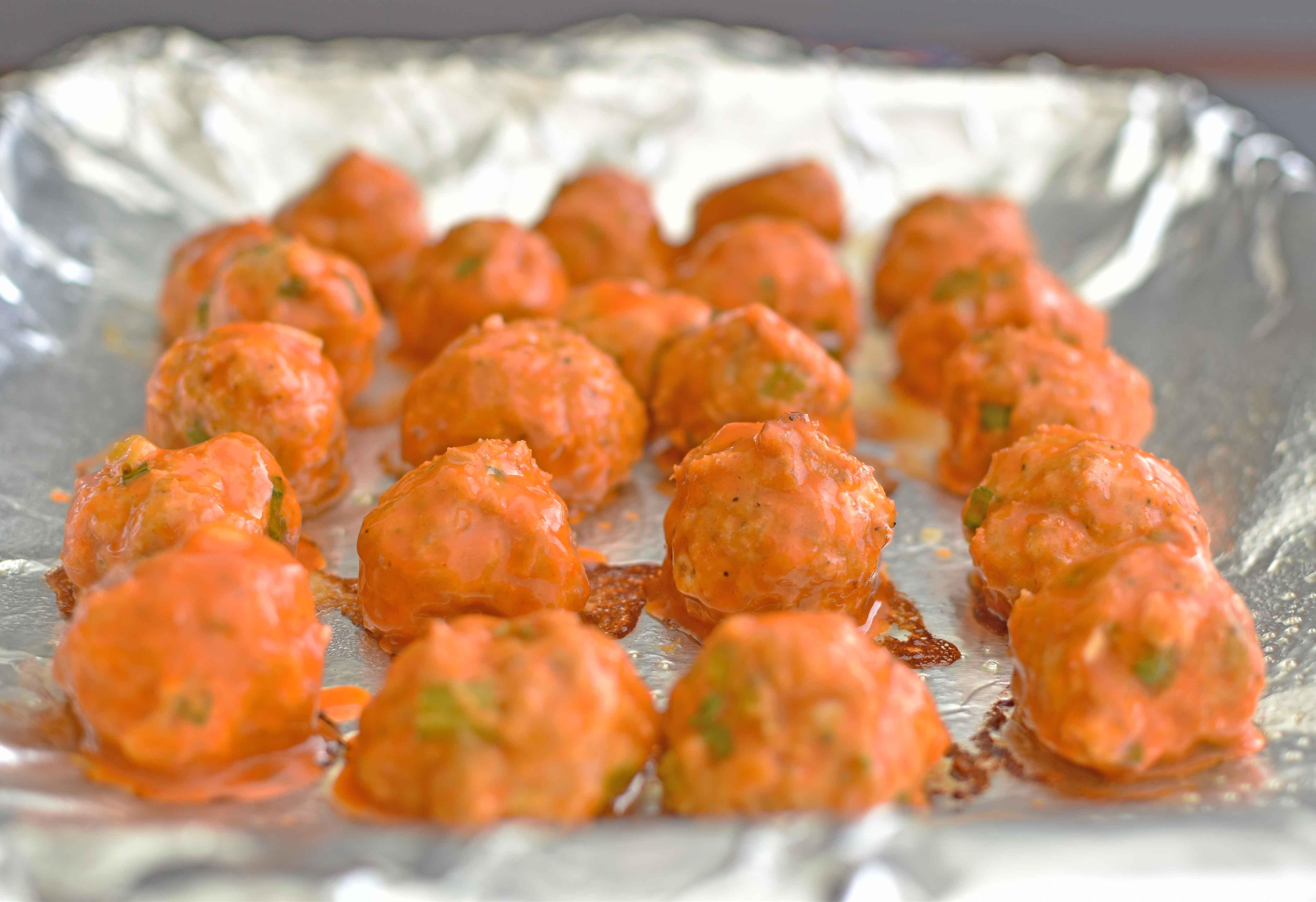 Buffalo Chicken Bites - Pepper Delight #recipe #appetizer